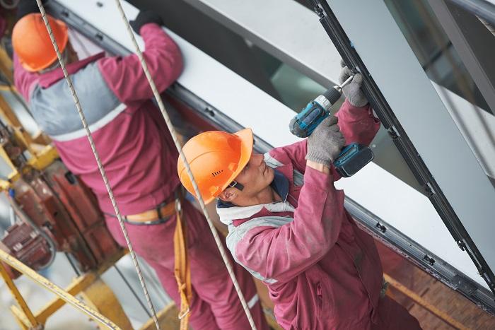 Монтаж алюминиевых конструкций (2)